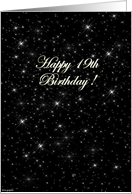 Happy 19th birthday - stars card