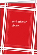 Invitation to Dinner - Business card