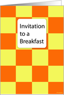 Invitation to a Breakfast. card