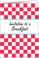 Breakfast Party Invitation ! card