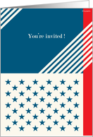 Invitation to political meetings, events. card