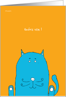 Gu�ris vite ! - get well soon written in french card