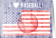I Love Baseball ! - sport card