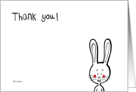 Thank you ! rabbit design cards