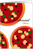 Pizza Themed Rehearsal Dinner Invitation card