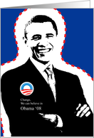 Change, we can believe in - Obama 2008 card
