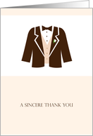 Thank you card for groomsman card
