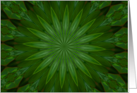Green kaleidoscope - Thank You card