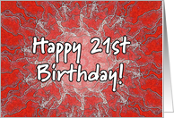 red lightning - Happy 21st Birthday card