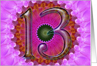 purple kaleidoscope - Happy 13th Birthday card