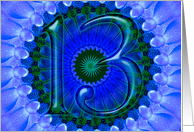blue kaleidoscope - Happy 13th Birthday card