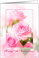 pale pink roses - Happy 70th Anniversary card