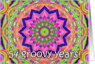 multi kaleidoscope - Happy 54th Birthday card