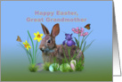 Easter, Great Grandmother, Bunny, Eggs, and Spring Flowers card