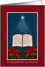 Grandmother, Open Bible Christmas Message card