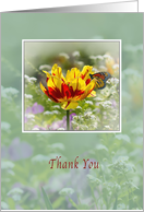 Thank You, Flowers and Butterfly card