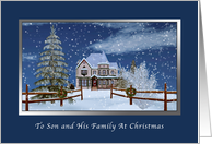 Christmas, Son and Family, Winter Scene card