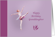 Birthday, Granddaughter, Ballerina in White and Pink card