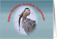 Fisherman's Birthday Card