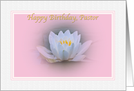 Pastor's Birthday Card with Water Lily card