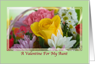 Aunt's Valentine Card with Flowers and Heart card