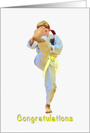 Congratulations, Yellow Belt Achievement, Karate card