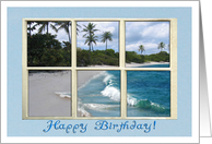 Happy Birthday Tropical Palm Trees card