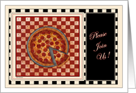 Pizza Time! - Rehearsal Dinner card