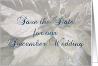 Save the Date - December Wedding card