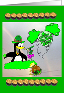 Penguin Leprechaun card