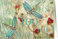 100th Birthday - Congratulations card