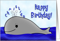 Personalized Birthday Whale card
