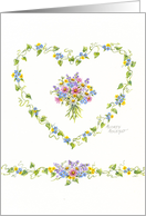 Christian Wedding Wildflowers And Ivy Heart card