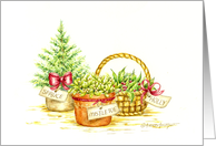 Thank You Christmas Fresh Fragrant Garden Greenery card