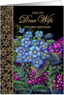 Wife, Birthday 'Wild Flowers' Real Paper Card
