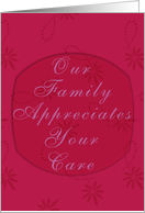 Thank you to Caregiver from Family card