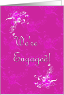 Engagement Party Invitation- Pink card