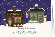 Cottages My New Neighbors Christmas Card