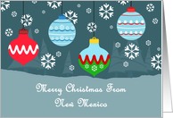 New Mexico Vintage Ornaments Christmas Card