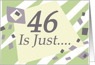 Humorous 46th Birthday Card