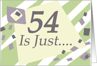 Humorous 54th Birthday Card