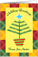 New Mexico Holiday Greetings Primitive Country Christmas Card