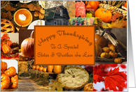 Happy Thanksgiving Special Sister And Brother In Law card