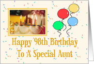 Aunt 98th Happy Birthday Card