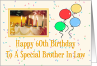 Brother In Law 60th Happy Birthday Card