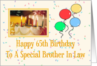 Brother In Law 65th Happy Birthday Card