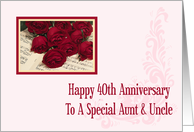 Aunt & Uncle 40th Anniversary Card
