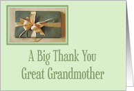 Christmas gift thank you,Great Grandmother card