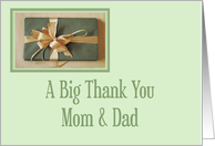 Christmas gift thank you,Mom And Dad card