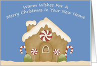 Gingerbread House New Home Christmas Card